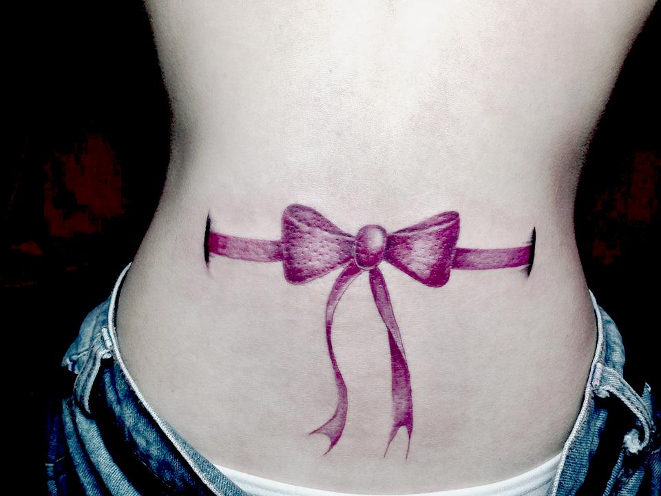 Corset Style Ribbon Gurkha Tattoo Family Singapore