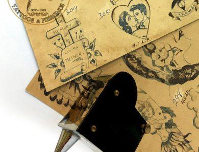 1959 Original Tattoo Flash by drawn by Tattoo Master Indra Bahadur