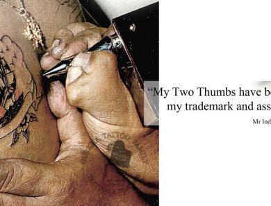 Two Thumbed Gurkha Tattoo Artist